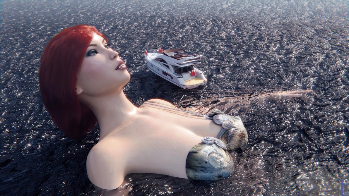 Mermaid x Rose 2 by Thomas-Crumb