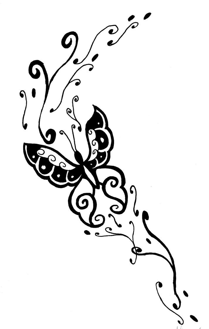 Butterfly side drawing