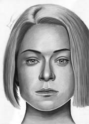 Rachel Duncan portrait drawing by IvanJovanovic