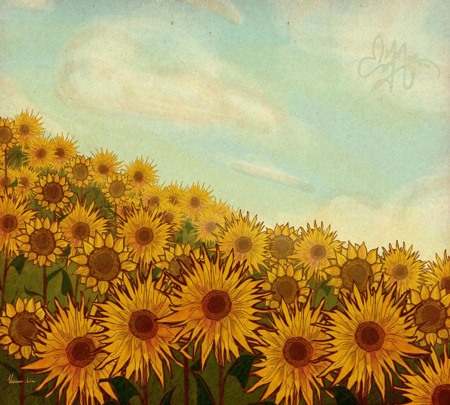 Sunflower Skies (revamp) by Vilva