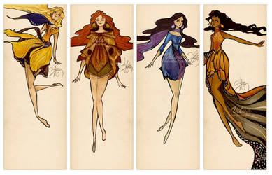 Butterfly dresses by Vilva