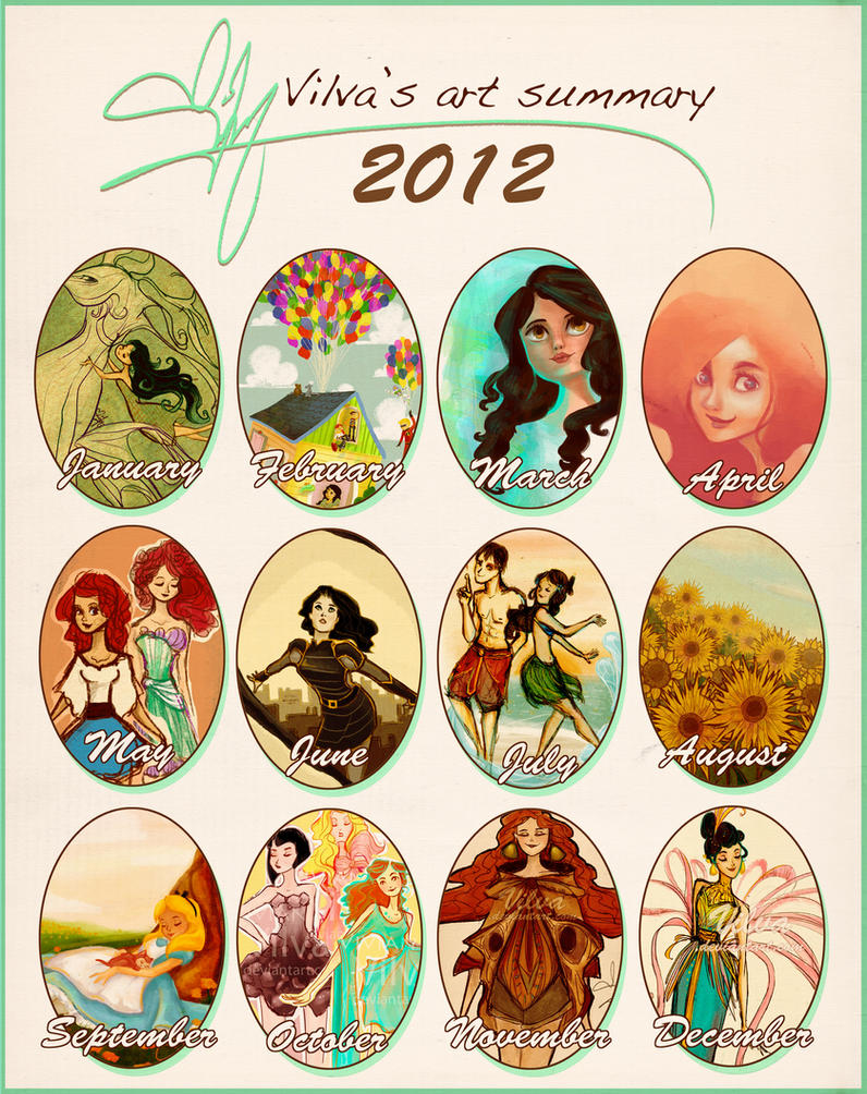 2012 art summary by Vilva