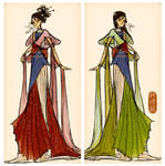 When will my reflection show? (Mulan dress design) by Vilva