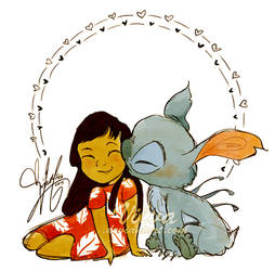 Lilo and Stitch (And a smooch, oh my)