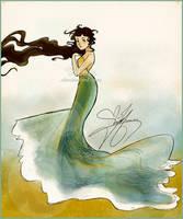 Fade to foam (water dress design!) by Vilva
