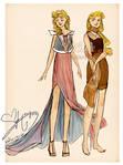 Aurora and Briar Rose (Outfit designs!)