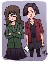 Daria and Jane by Kaineiribas