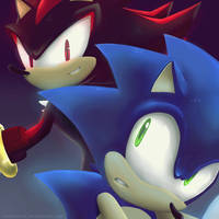 Sonic and Shadow by TwoBerries