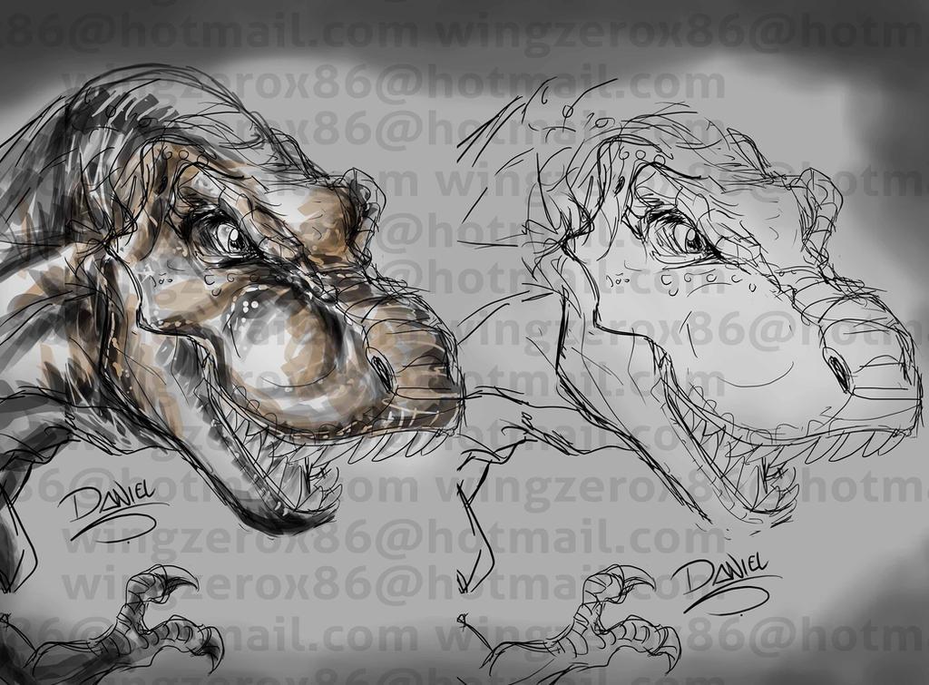 Tyrannosauria by wingzerox86
