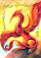 Phoenix Dragon by TrollGirl