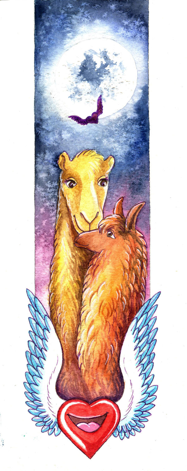 Camelid bookmark by TrollGirl