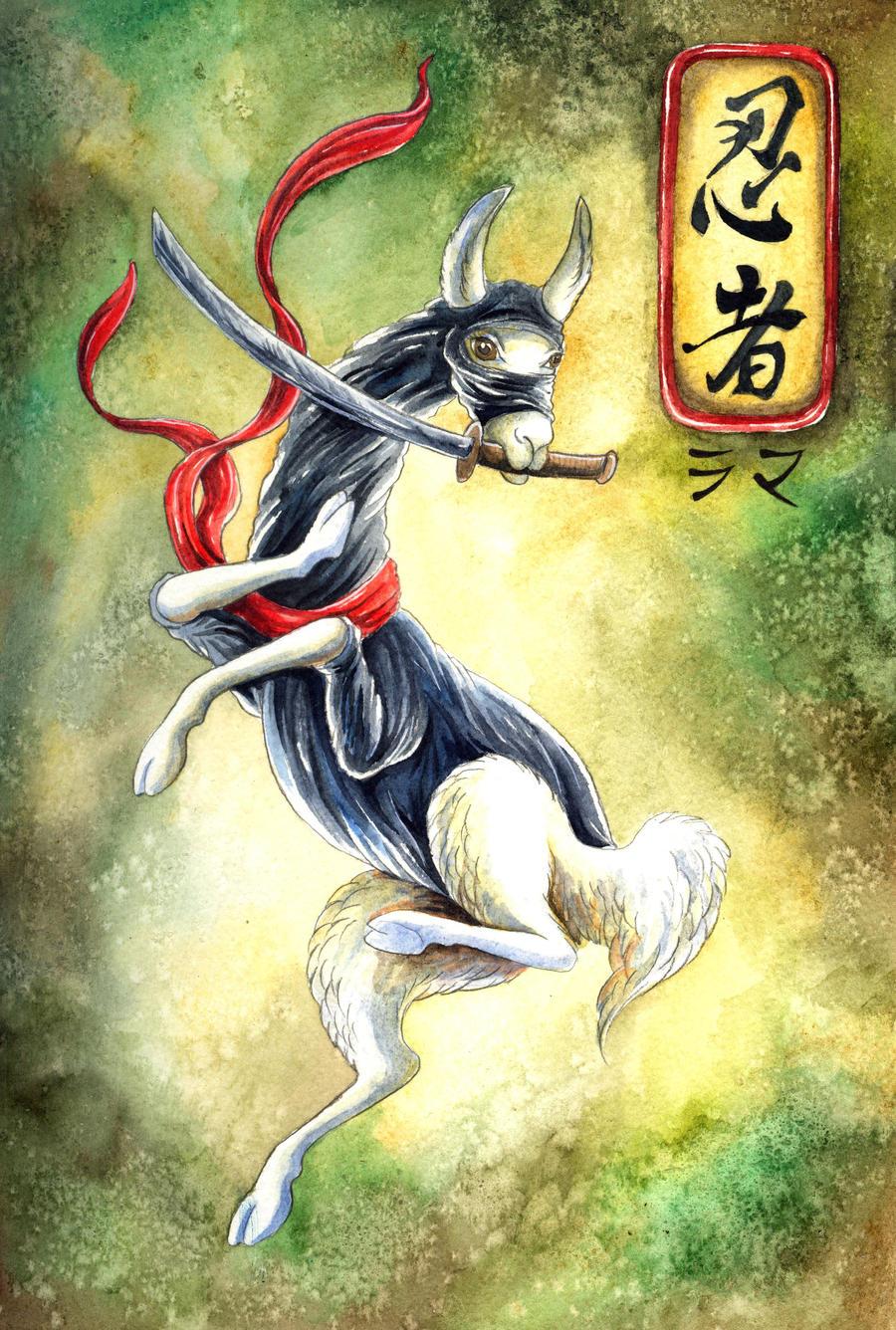 Ninja Llama by TrollGirl