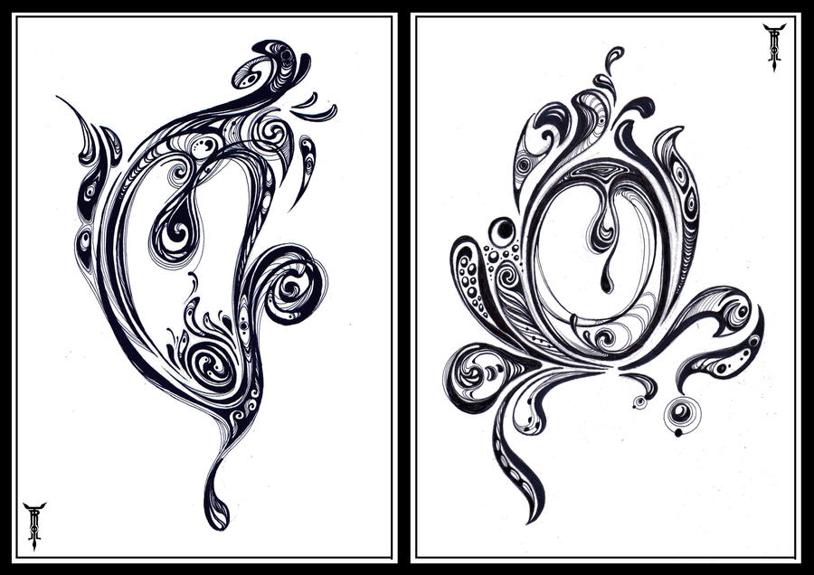 Duet in Swirls by TrollGirl