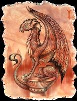 Redscale dragon I by TrollGirl
