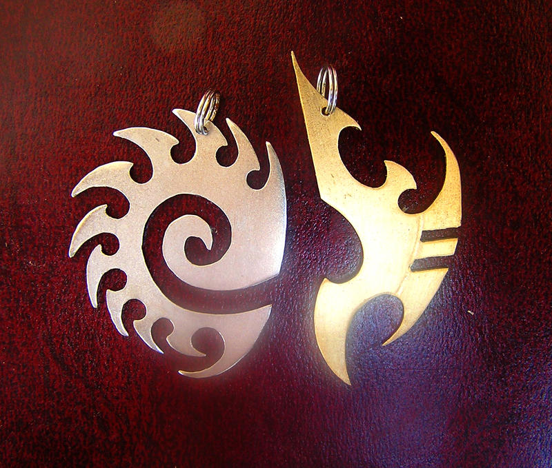 Starcraft pendants by TrollGirl