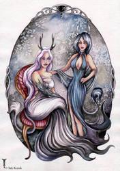 Antler Sisters by TrollGirl