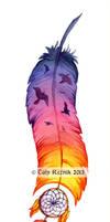 Sunset Feather
