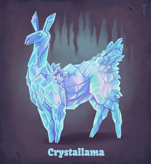 Daily Llama Project - Crystallama by TrollGirl