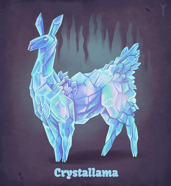 Daily Llama Project - Crystallama by TrollGirl