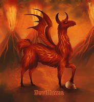 Daily Llama Project - Devillama by TrollGirl