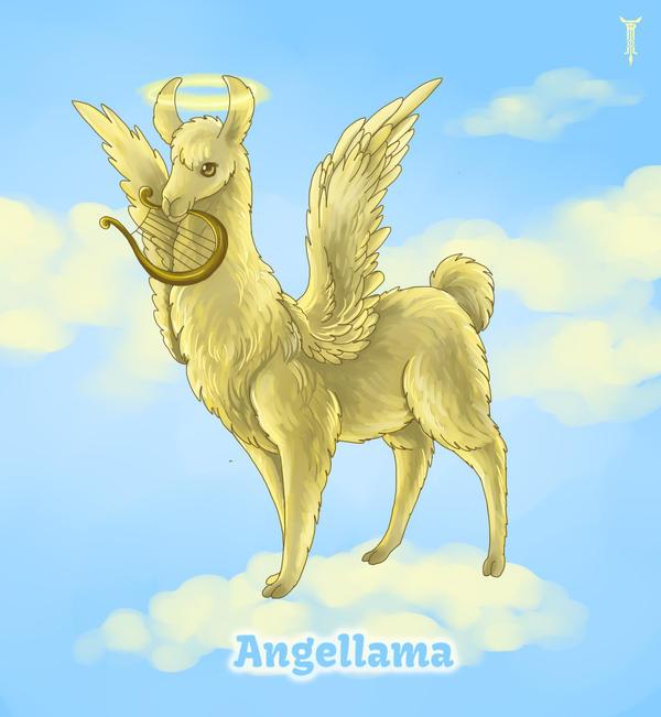 Daily Llama Project - Angellama by TrollGirl