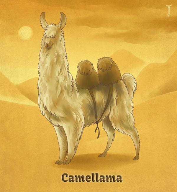 Daily Llama Project - Camellama by TrollGirl