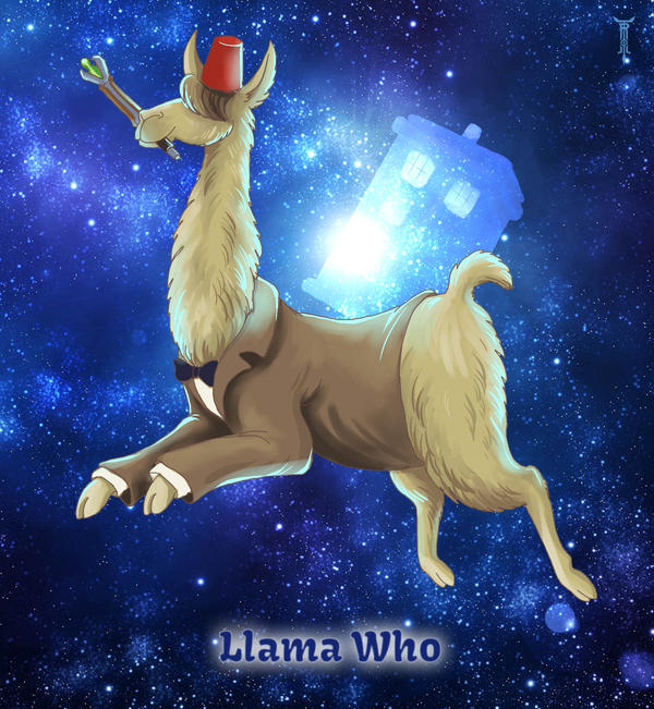 Llama Wallpaper: Llama Who By TrollGirl On DeviantArt