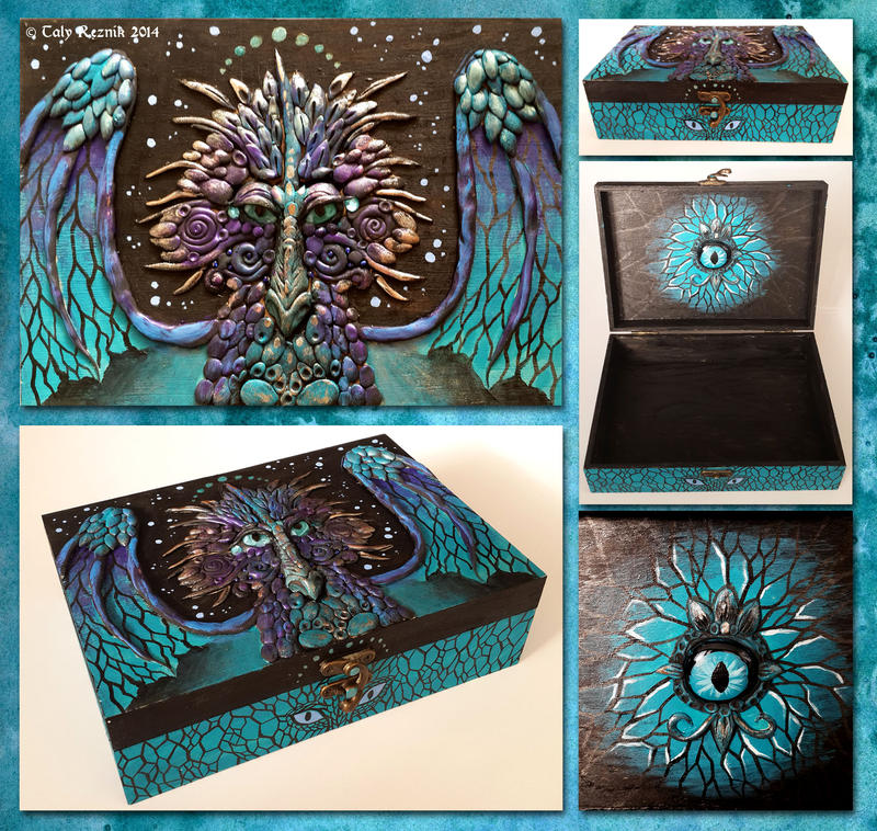 Turquoise Dragon Treasure Chest