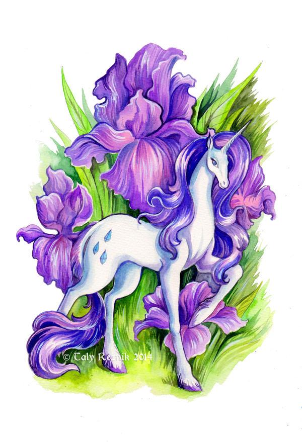 Flower Ponies - Rarity by TrollGirl
