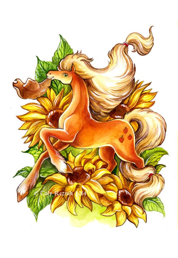 Flower Ponies - Applejack by TrollGirl