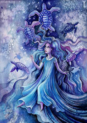 Dream of the blue turtles by TrollGirl
