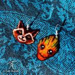 Rocket And Groot Earrings