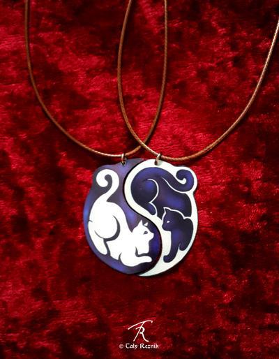 Yin Yang Cats by TrollGirl