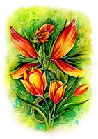 Tulip Fairy Dragon by TrollGirl