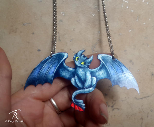 Toothless Necklace by TrollGirl