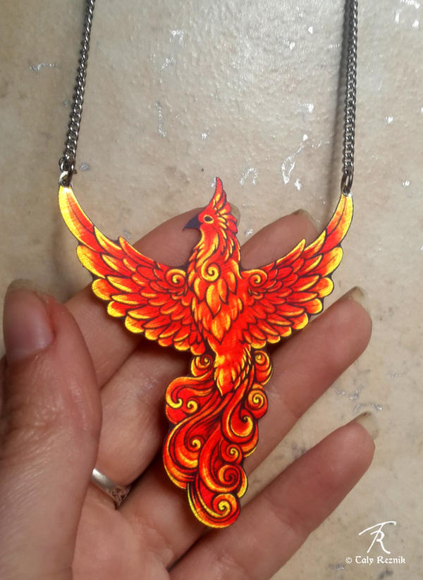 Phoenix Necklace by TrollGirl