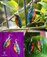 Kingfisher Earrings by TrollGirl