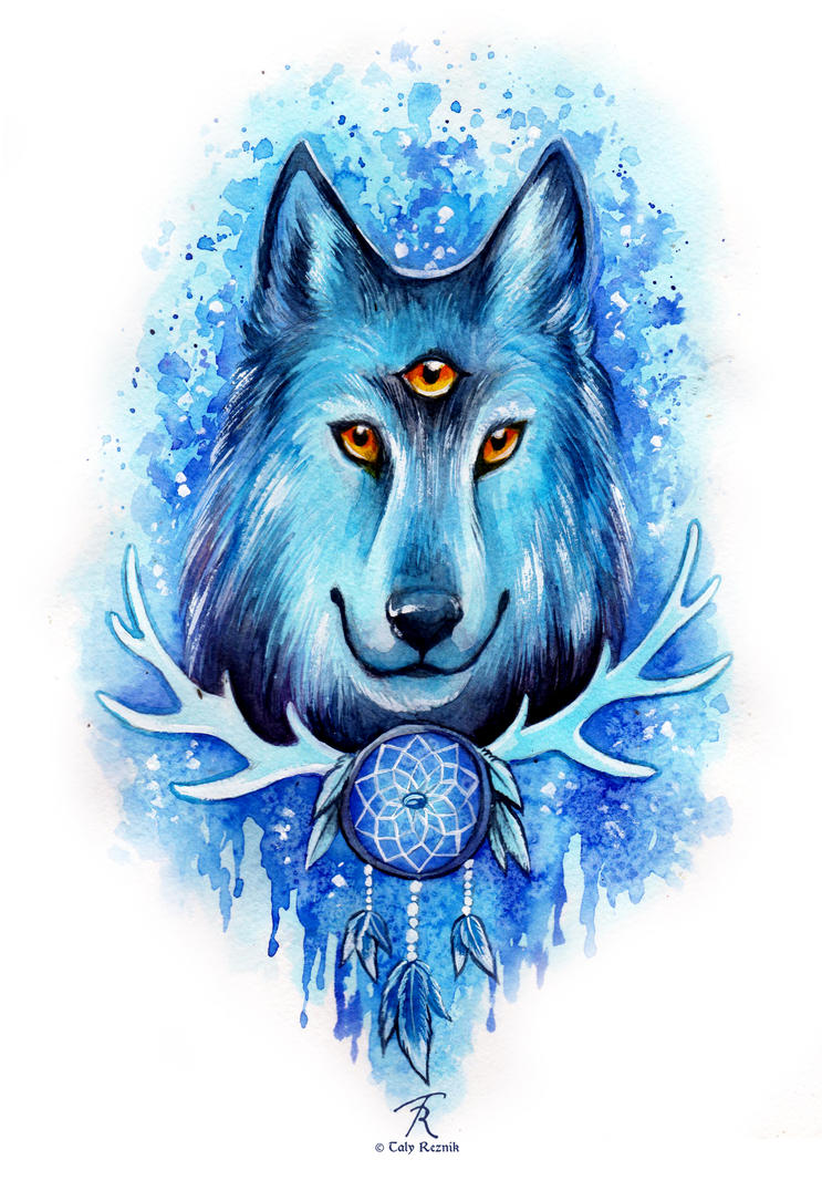 Blue Wolf Dream by TrollGirl