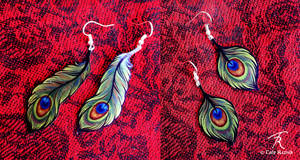 Peacock Deco Earrings
