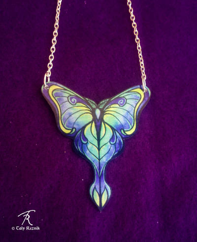 Magic Moth Necklace by TrollGirl