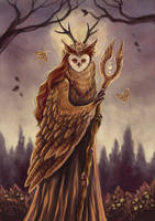 Owl Shaman by TrollGirl