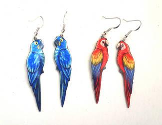 Macaws by TrollGirl