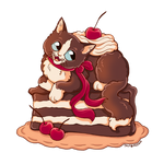 Black Forest Cat Cake
