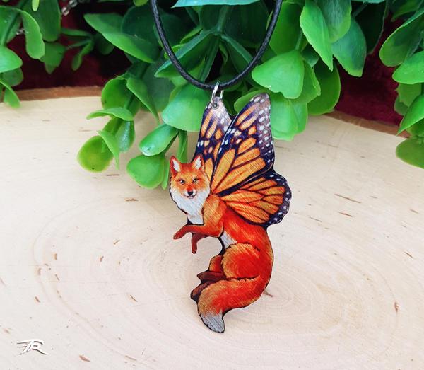 FairyFox Pendant - Red by TrollGirl