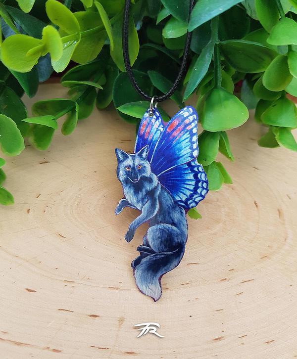 FairyFox Pendant - Silver by TrollGirl