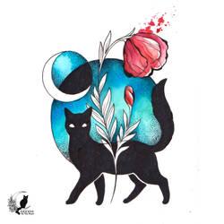 Mooncat by TrollGirl