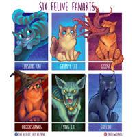 6FelineFanarts