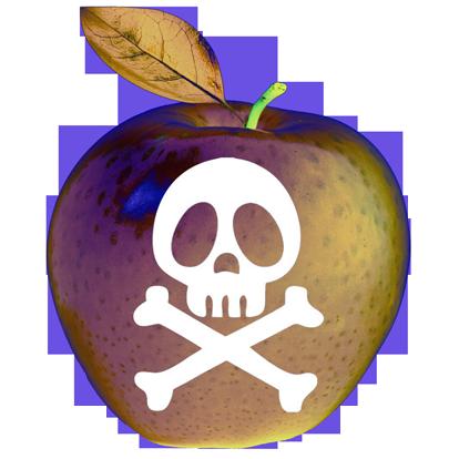 Toxic apple day - halloween by Clange-kaze