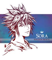 Sora - KINGDOM HEARTS by Clange-kaze