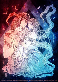 Shiva and Ifrit - FINAL FANTASY XV